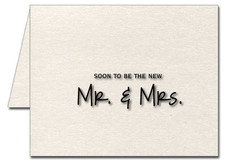 Note Cards: Soon to Be Mr & Mrs