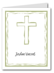 Abstract Cross Sage Thank You Notes