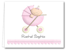 Note Cards: Baby Girl in Stroller