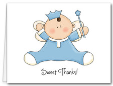 Note Cards: Angel Baby Blue