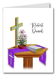 Note Cards: Communion Table Blue