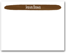 Brushed Brown Flat Note Cards