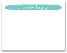 Brushed Tiffany Blue Flat Note
