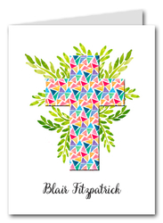 Glass Triangles Cross Thank You Notes