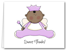 Note Cards: Ethnic Angel Baby Lilac