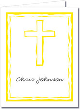 Abstract Cross Yellow Thank You Notes