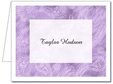 Note Cards: Paisley Lilac