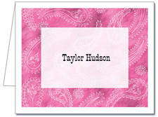 Note Cards: Paisley Light Pink