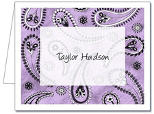 Note Cards: Paisley Lavender