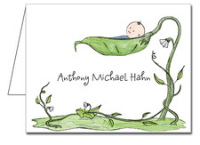 Note Cards: Peapod Baby Boy