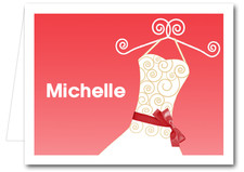 Note Cards: Scarlet Ribboned Dress