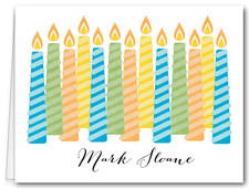 Note Cards: Multi Candles Blue
