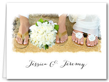 Note Cards: Wedding Beach Feet