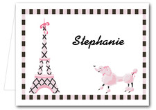 Note Cards: Pink Poodle in Paris
