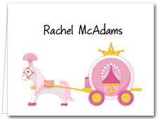 Note Cards: Pink Princess Carriage