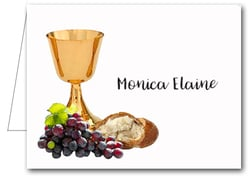 Note Cards: Chalice Bread & Grapes