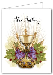 Note Cards: Chalice, Grapes & Wheat