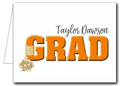 Note Cards: Orange Grad & Charm