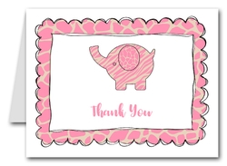 Note Cards: Exotic Pink Elephant