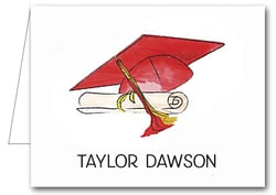 Note Cards: Red-Gold Graduation