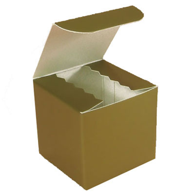 Gloss Gold Favor Box 2""