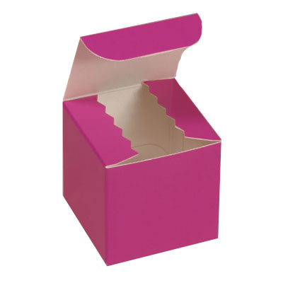 Gloss Hot Pink Favor Box 2""