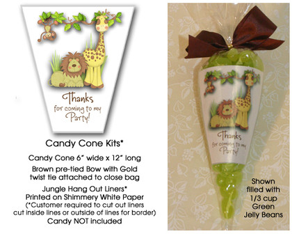 Jungle Hangout Candy Cone Kit