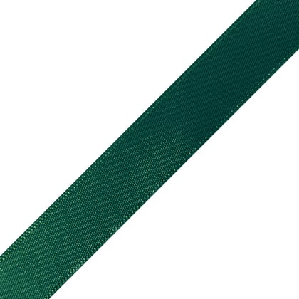 "Pre-Cut Forest Green Ribbon 5/8"" x 10"""