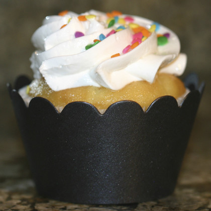 Shimmery Black Cupcake Wrappers