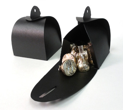 Shimmery Black Favor Box Large