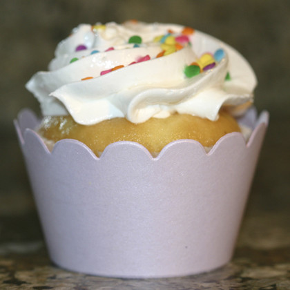 Shimmery Lavender Cupcake Wrappers