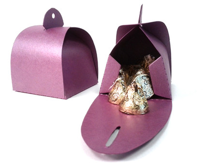 Shimmery Purple Favor Box Large