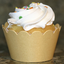 Shimmery Gold Cupcake Wrappers