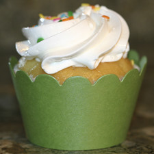 Shimmery Green Cupcake Wrappers
