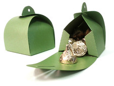 Shimmery Green Favor Box Large