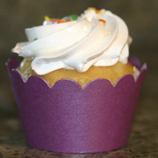 Shimmery Purple Cupcake Wrappers