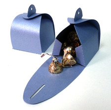 Shimmery Blue Favor Box Large