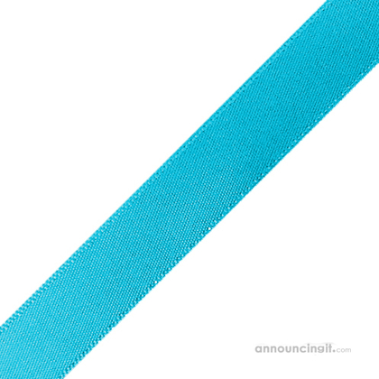 "1/4"" x 10"" Turquoise Ribbons Pre-Cut"