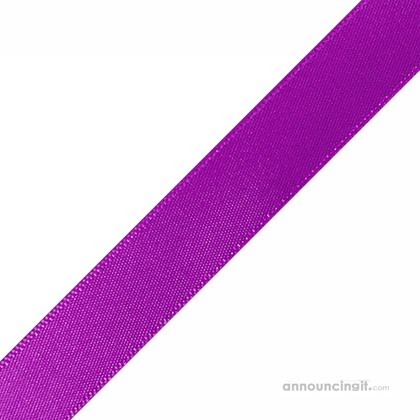 "1/4"" x 12"" Purple Ribbons Pre-Cut"