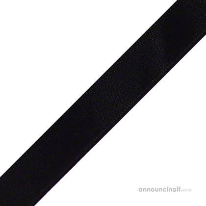 "1/8"" x 12"" Black Ribbons Pre-Cut"