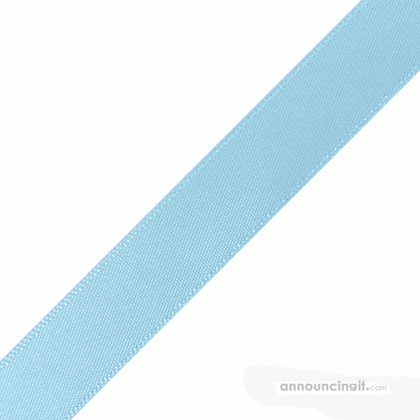 "1/4"" x 10"" Light Blue Ribbons Pre-Cut"