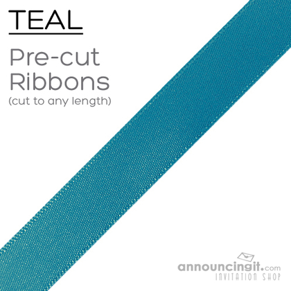 Pre-Cut 7/8 Inch Teal Ribbons