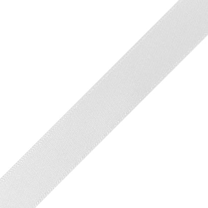 "1/4"" x 12"" White Ribbon"