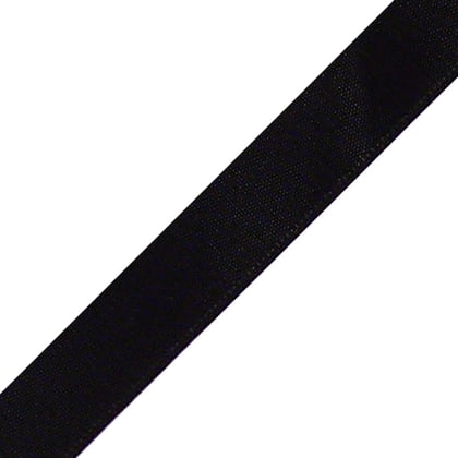 "1/4"" x 24"" Black Ribbon"