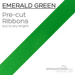 Pre-Cut 1/4 Inch Emerald Green Ribbon
