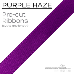 Pre-Cut 1/4 Inch Purple Haze Ribbon