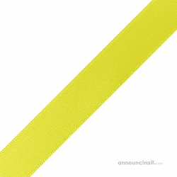 "1/4"" x 10"" Pineapple Yellow Ribbons Pre-Cut"