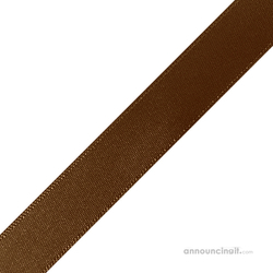 "1/4"" x 12"" Brown Ribbons Pre-Cut"