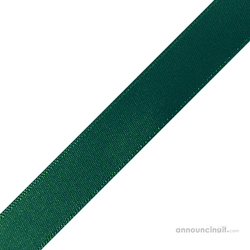 "1/4"" x 12"" Forest Green Ribbons Pre-Cut"