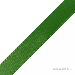 "1/4"" x 12"" Hunter Green Ribbons Pre-Cut"